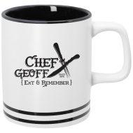 Promotional Custom Logo Lacrosse Ceramic Mug 10 oz