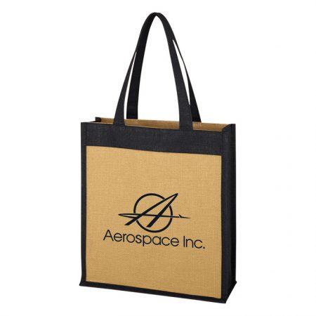 Promotional Custom Logo Laminated Jute Tote Bag
