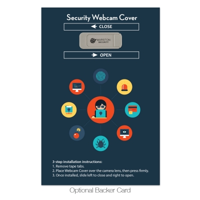 Laptop Security Webcam Cover Custom Backer Card