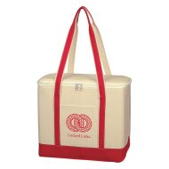 Custom Logo Promotional Large Cotton Canvas Lunch Cooler Tote Bag