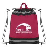 Custom Logo Promotional Large Non-Woven Reflective Sports Drawstring Bag
