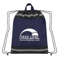Custom Logo Promotional Large Non-Woven Reflective Sports Drawstring Bag