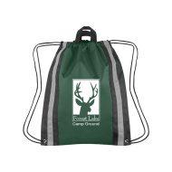 Custom Logo Promotional Large Reflective Sports Drawstring Bag