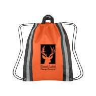 Custom Logo Promotional Large Reflective Sports Drawstring Bag