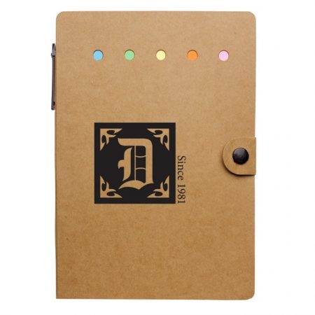 Promotional Custom Logo Large Snap Notebook With Desk Essentials