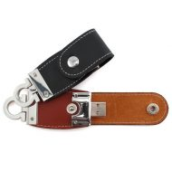 Promotional Custom Logo Leather USB Drive 100 - 2GB