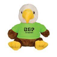 Promotional Custom Logo Liberty Stuffed Plush Eagle 8.5inch