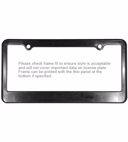 License Plate Frame 2-Holes | Progress Promotional Products | Logo ...