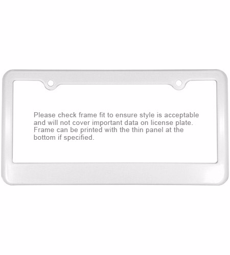 promotional products imprinted items custom printed license frames automotive industry products license - White License Plate Frame