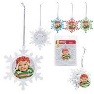 Promotional Custom Logo - Light Up Snowflake Ornament