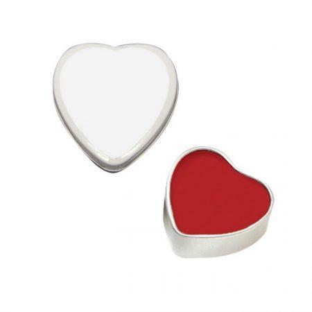Promotional Custom Lip Moisturizer in Heart Shape Tin