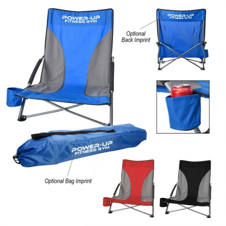 Promotional Custom Logo Low Profile Chair With Carrying Bag