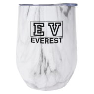 Promotional Custom Logo Marble Stemless Wine Cup 12oz