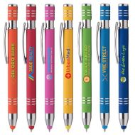 Promotional Custom Logo Marin Softy Stylus Pen - Full Color Imprint
