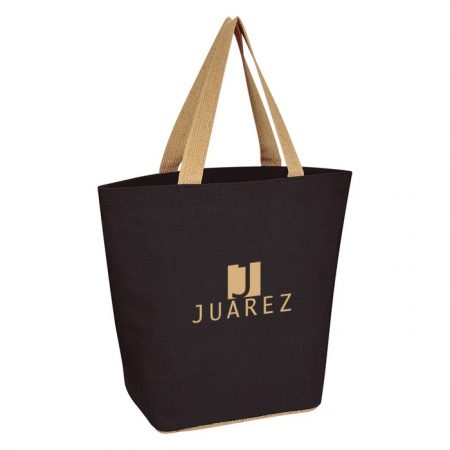 Promotional Custom Logo Marketplace Jute Tote Bag