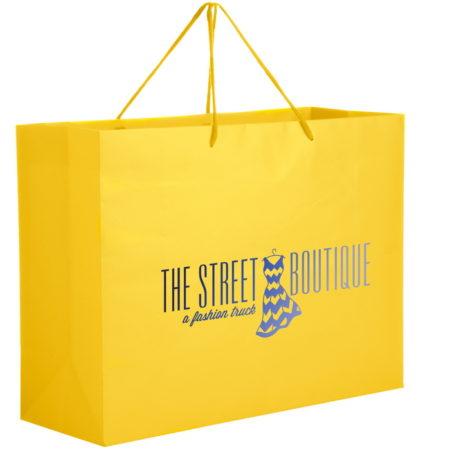 Promotional Custom Logo Matte Laminated Euro Tote Bag 13x10