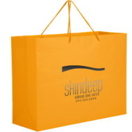 Promotional Custom Logo Matte Laminated Euro Tote Bag 16x12