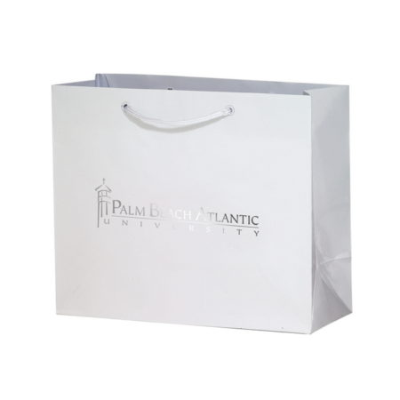 Promotional Custom Logo Matte Laminated Euro Tote Bag 9x7