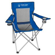 Promotional Custom Logo Mesh Folding Chair With Carrying Bag