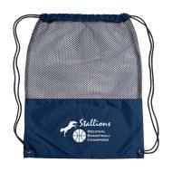 Custom Logo Promotional Mesh Sports Drawstring Bag