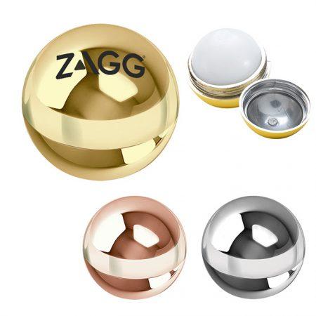 Custom Logo Promotional Metallic Lip Balm Ball Moisturizer