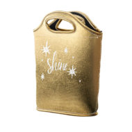 Customizable Metallic Lunch Tote Bag with Logo