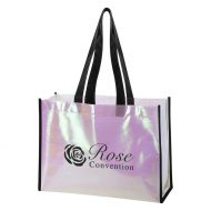 Promotional Custom Logo Mini Pearl Laminated Non-Woven Tote Bag