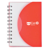 Mini-Spiral-Notebook-Red-Custom Logo