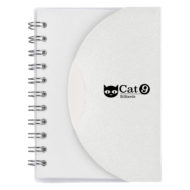 Mini-Spiral-Notebook-White-Custom Logo