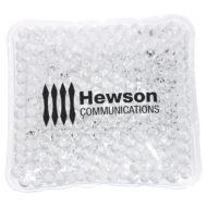 Promotional Custom Logo Mini Square Hot/Cold Pack Aqua Pearls
