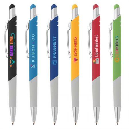 Promotional Custom Logo Montego Softy Stylus Pen - Full Color Imprint