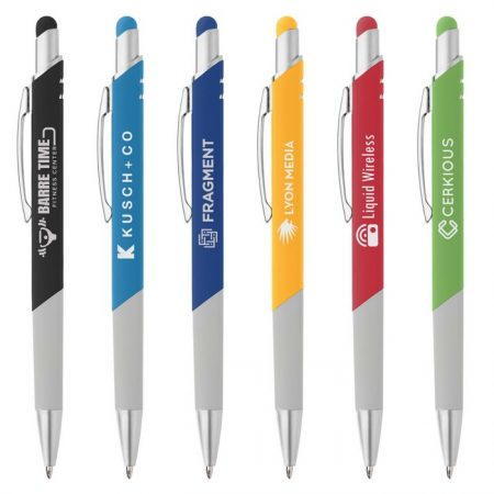 Promotional Custom Logo Montego Softy Stylus Pen - Laser Engraving