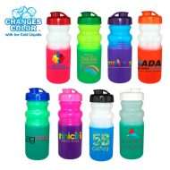 Productional Custom Mood Color Change Cycle Water Bottle 20oz with Flip Top Cap - Full Color