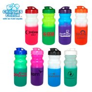 Promotional Custom Mood Color Change Cycle Water Bottle 20oz with Flip Top Cap