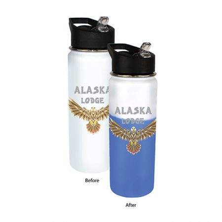 Promotional Custom Mood Color Change Stainless Steel Water Bottle 26oz - Full Color