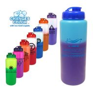 Promotional Custom Mood Color Change Water Bottle with Flip Top Cap 32oz