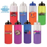 Promotional Custom Mood Color Change Water Bottle with Push n' Pull Cap 32oz