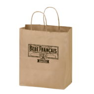 "Promotional Custom Logo Natural Kraft Twisted Paper Handle Shopper 8.25""x10.25"""