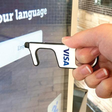 Custom Logo Touchscreen Door Opener No Touch Tool Full Color