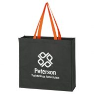 Custom Logo Promotional Non-Woven Accent Handle Tote Bag