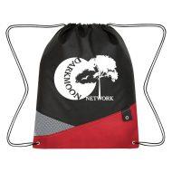 Custom Logo Promotional Non-Woven Cross Sports Drawstring Bag