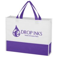 Logo Printed Promotional Non-Woven Prism Tote Bag
