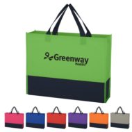 Logo Printed Promotional Non-Woven Raven Prism Tote Bag