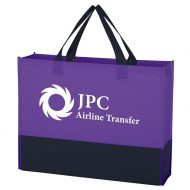Custom Logo Promotional Non-Woven Raven Prism Tote Bag