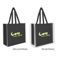 Non-Woven Promotional Reflective Edge Tote Bag