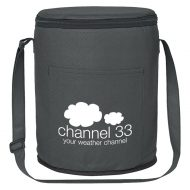 Custom Logo Promotional Non-Woven Round Lunch Cooler Bag