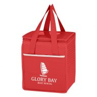 Custom Logo Promotional Non-Woven Wave Design Lunch Cooler Bag
