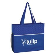 Promotional Custom Logo Non-Woven Wave Design Promotional Tote Bag