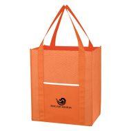 Custom Logo Non-Woven Wave Design Shopper Tote Bag