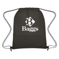 Custom Logo Promotional Non-Woven Wave Design Sports Drawstring Bag